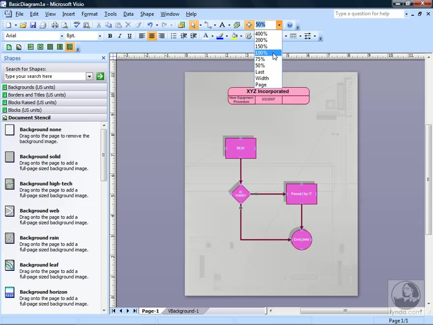 Opening and viewing Visio documents