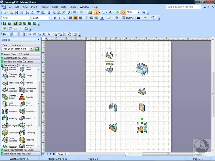 creating a workflow diagram visio 2007 essential training