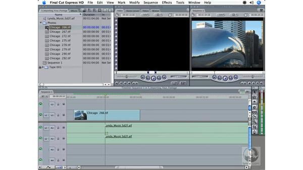 Importing photos: Final Cut Express HD 3.5 Essential Training