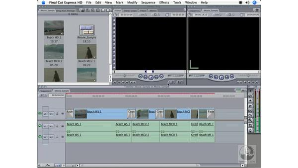 Importing an iMovie project: Final Cut Express HD 3.5 Essential Training
