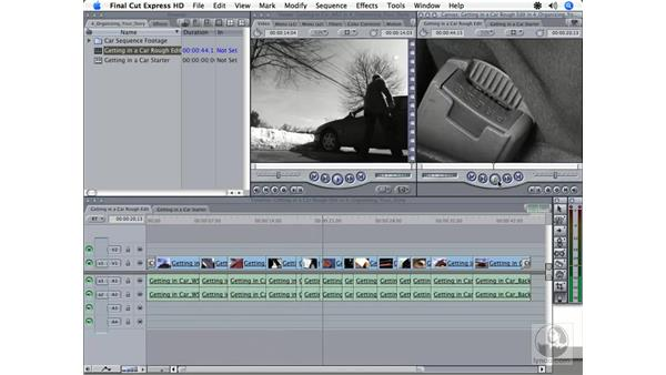 Selecting clips: Final Cut Express HD 3.5 Essential Training