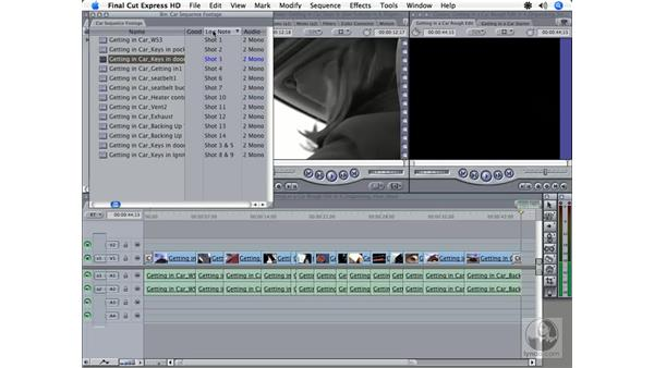 Creating subclips: Final Cut Express HD 3.5 Essential Training