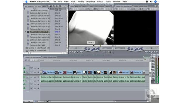 Using markers: Final Cut Express HD 3.5 Essential Training