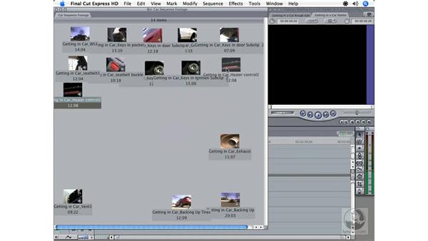 Storyboard editing: Final Cut Express HD 3.5 Essential Training
