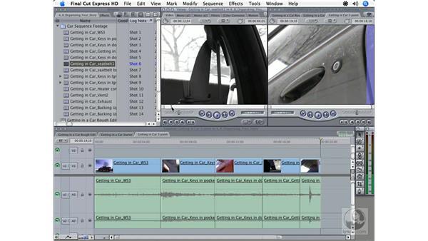 Assembling a rough cut: Final Cut Express HD 3.5 Essential Training