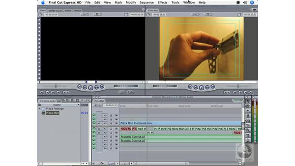 Editing audio overview: Final Cut Express HD 3.5 Essential Training