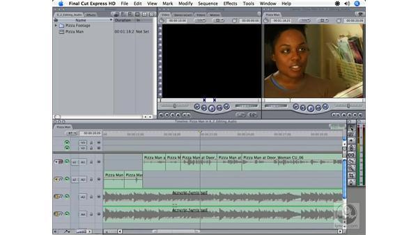 Setting audio levels: Final Cut Express HD 3.5 Essential Training
