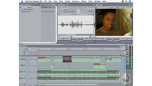 Panning audio: Final Cut Express HD 3.5 Essential Training
