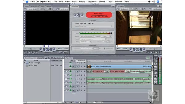 Narrating with the Voiceover tool: Final Cut Express HD 3.5 Essential Training