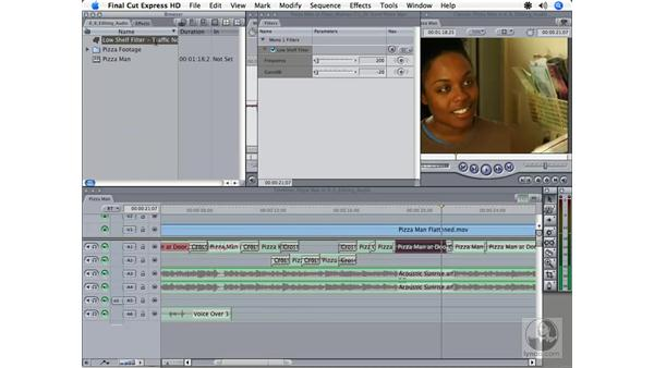 Essential audio filters: Final Cut Express HD 3.5 Essential Training
