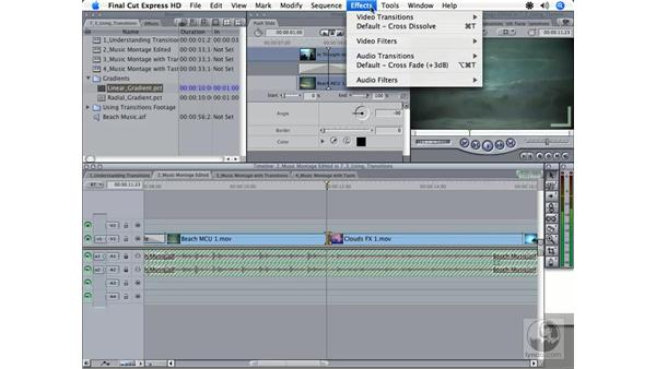 Choosing good transitions: Final Cut Express HD 3.5 Essential Training