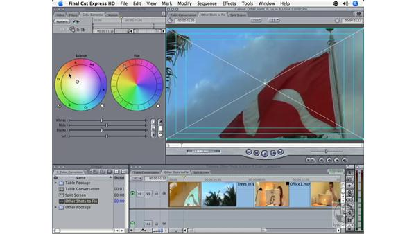 Using the Color Corrector: Final Cut Express HD 3.5 Essential Training
