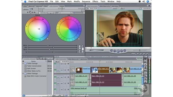 Reusing an effect: Final Cut Express HD 3.5 Essential Training