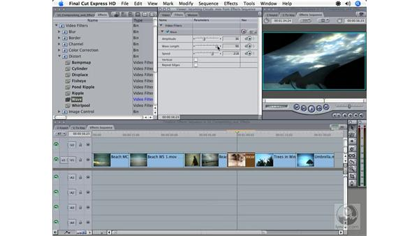 Essential filters: Final Cut Express HD 3.5 Essential Training