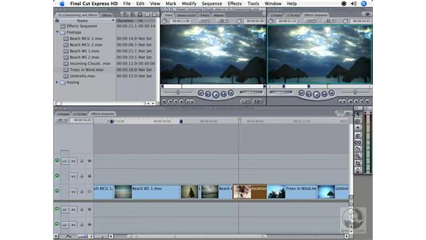 Changing clip speed: Final Cut Express HD 3.5 Essential Training