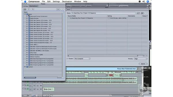 Exporting for an iPod: Final Cut Express HD 3.5 Essential Training