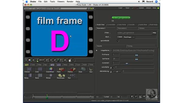 Importing video footage: Shake 4.1 Essential Training