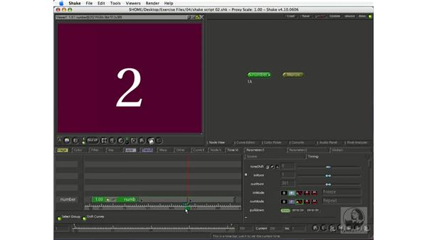 Looping and holding clips and stills: Shake 4.1 Essential Training