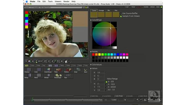 The Color Picker: Shake 4.1 Essential Training