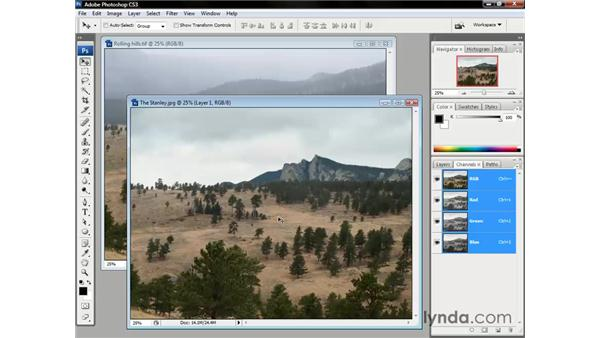 Combining one image with another: Photoshop CS3 One-on-One: The Essentials