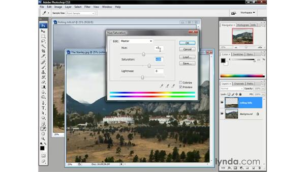 Adjusting colors: Photoshop CS3 One-on-One: The Essentials