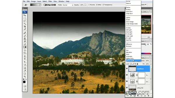 Creating a dark and stormy sky: Photoshop CS3 One-on-One: The Essentials