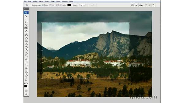 Cropping artwork: Photoshop CS3 One-on-One: The Essentials