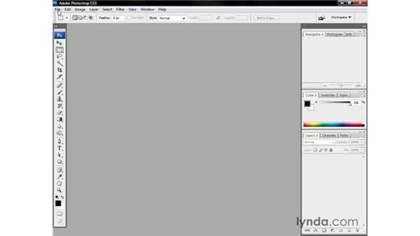 Opening an image: Photoshop CS3 One-on-One: The Essentials