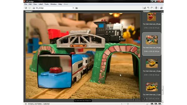 Loupe, compare, and stack: Photoshop CS3 One-on-One: The Essentials