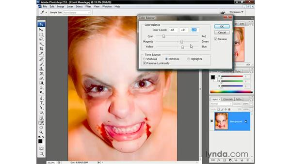 Color Balance vs. Variations: Photoshop CS3 One-on-One: The Essentials