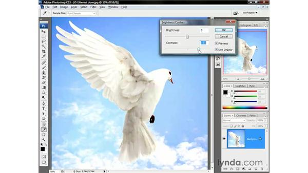 Bad old Brightness/Contrast: Photoshop CS3 One-on-One: The Essentials