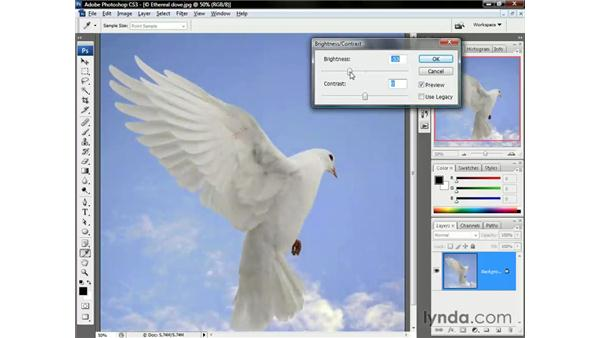 Good new Brightness/Contrast: Photoshop CS3 One-on-One: The Essentials