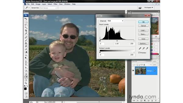 A first look at Levels: Photoshop CS3 One-on-One: The Essentials