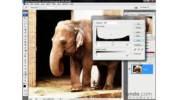 When Levels fail: Photoshop CS3 One-on-One: The Essentials