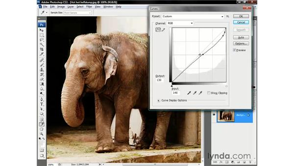 Correcting the composite image: Photoshop CS3 One-on-One: The Essentials