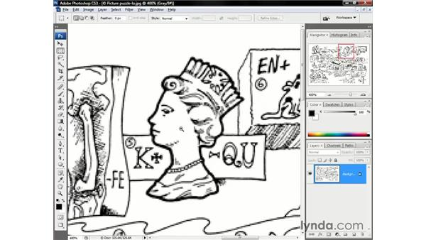 The big pixel puzzle: Photoshop CS3 One-on-One: The Essentials