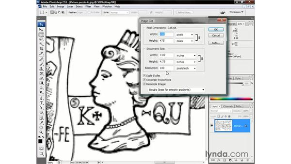 The Image Size command: Photoshop CS3 One-on-One: The Essentials