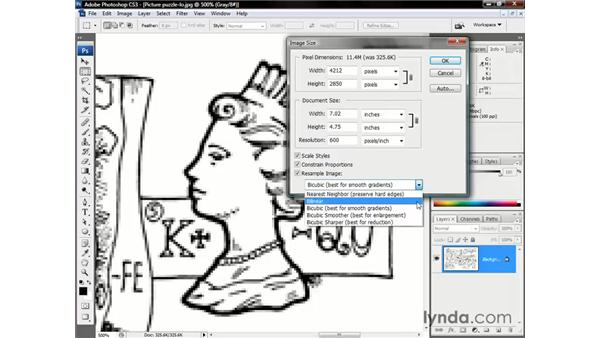 Selecting an interpolation option: Photoshop CS3 One-on-One: The Essentials