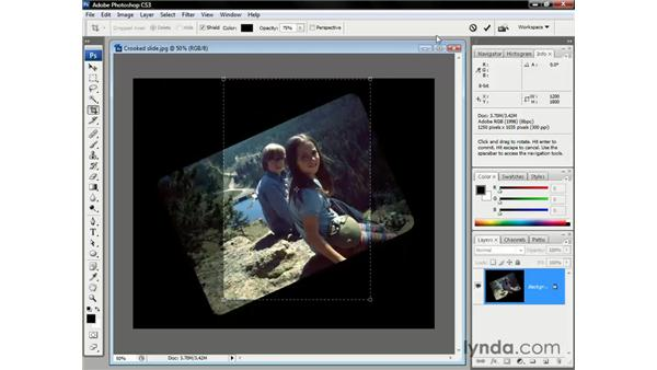 Crop tool presets: Photoshop CS3 One-on-One: The Essentials