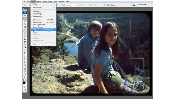 The Crop command: Photoshop CS3 One-on-One: The Essentials