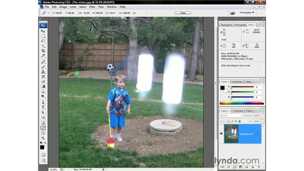 Straightening an image with the Ruler tool: Photoshop CS3 One-on-One: The Essentials