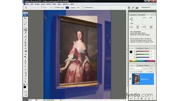 Perspective cropping: Photoshop CS3 One-on-One: The Essentials