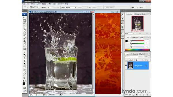 Selecting glass and water: Photoshop CS3 One-on-One: Beyond the Basics