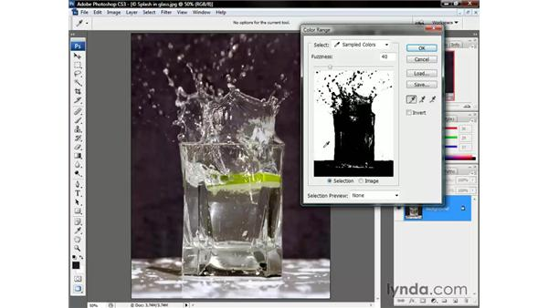 The Color Range command: Photoshop CS3 One-on-One: Beyond the Basics