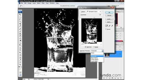 Selecting sparkles: Photoshop CS3 One-on-One: Beyond the Basics