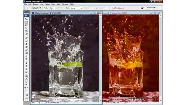 Setting sparkles to Screen: Photoshop CS3 One-on-One: Beyond the Basics