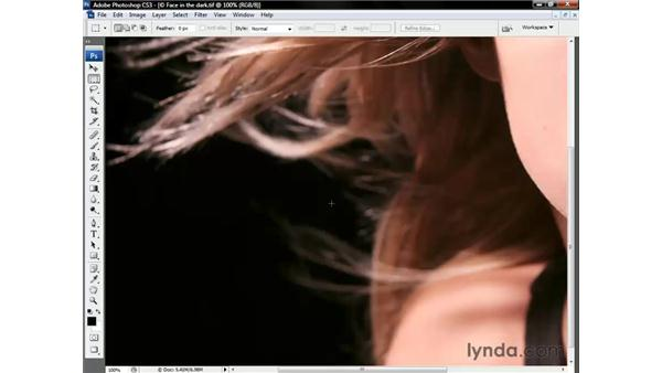 Selecting and compositing hair: Photoshop CS3 One-on-One: Beyond the Basics
