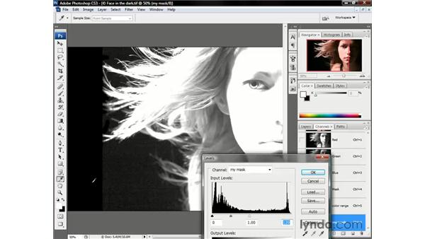 Enhancing the channel's contrast: Photoshop CS3 One-on-One: Beyond the Basics
