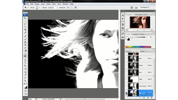 Dodging the highlights: Photoshop CS3 One-on-One: Beyond the Basics
