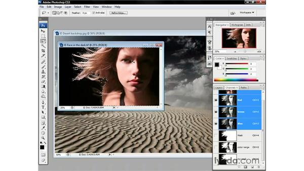 Putting the mask in play: Photoshop CS3 One-on-One: Beyond the Basics